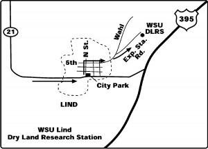 A map to the Lind Dryland Research Station