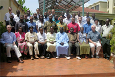 Attendees at a decision-support system workshop in Accra, Ghana, Oct. 2011. Hoogenboom is standing back left.
