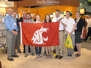 Chuck and Louanna Eggert with WSU Professor John Reganold and students majoring in organic agriculture.