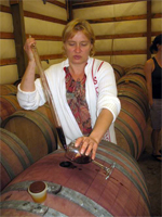 Margarita Vartanyan, owner of Vartanyan Estates Winery pours a tasting from the barrel during the 2011 Whatcom County Farm Tour.