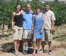 The Mrachek family: Allyson, Mike, Laura, and Bryan. Bryan is a student in WSU's V&E program; hear what Bryan and others have to say about the program in this short video: http://tinyurl.com/yw3nfy. Visit the Mrachek's winery Web site: http://www.saintlaurent.net/
