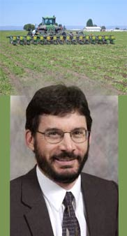 Top: Strip-till planting of corn into an alfalfa stand. Bottom: Andy McGuire, WSU Lauzier Agriculture Systems