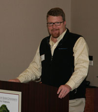 David Dicks, director of the Puget Sound Partnership, the state agency charged with restoring the Sound's health, was the keynote speaker.