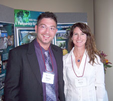 Marco Biondi and enologist Kerry Ringer at a Seattle Enological Society event.