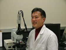 Boon Chew in his lab.