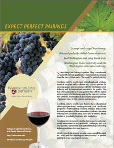 """""""Expect Perfect Pairing"""" won a Gold ACE Award for its presentation of the partnership between WSU and the Washington wine industry. To get your copies, just drop a note to Voice of the Vine editor Brian Clark: bcclark@wsu.edu."""