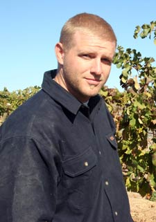 Army veteran Andrew Schultz recently completed a grapevine leafroll disease inventory for Kilpsun Vineyards.