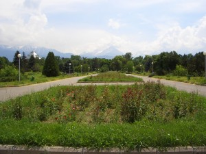 The botanic garden in Almaty is home to thousands of species of plants.