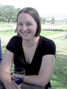 WSU grad students, including Laura Deyermond, based at the Prosser research station are smart -- they gather on Friday afternoons to talk about their research and enjoy a glass of wine.