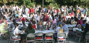 Nearly 700 students, faculty and staff from all across campus attended the 2008 CAHNRS Fall Festival. That's a lot of BBQ!