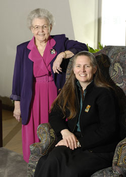 Sherrill Richarz and Mary Wiedenhoeft, recipients of the 2007 CAHNRS Women's History Recognition Awards