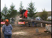 Click to watch of WSU Loggersports team member competing at the 2007 Association of Western Forestry Clubs Conclave