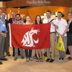 Chuck and Louanna Eggert with WSU Professor John Reganold and students majoring in organic agriculture. Click on image to download high resolution version.