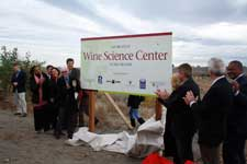 Dedicating the site of the future WSU Wine Science Center on the campus of WSU Tri-Cities.