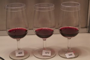 "During a red wine aroma study, panelists were asked, ""Which one of these is not like the others?"""