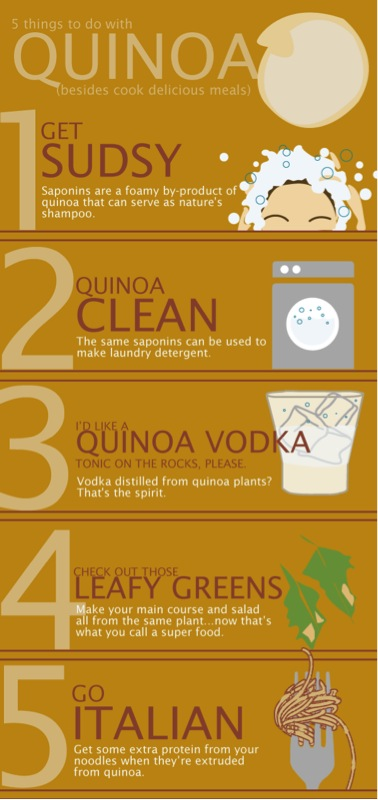 5 alternative ways to use quinoa. Click to enlarge.