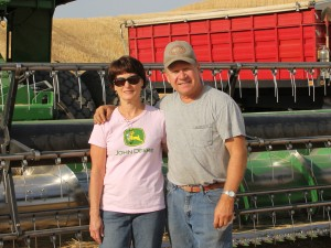 Laurie and Randy Suess at their farm in Colfax, Wash.