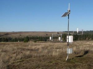 A WSU AgWeatherNet monitoring station near Spokane is snowless last December. The winter of 2014-15 was the warmest in more than 20 years. This February was the warmest on record.