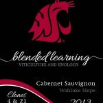 The label for this year's Bleneded Learning Cabernet Sauvignon.