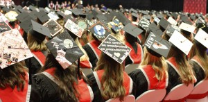 AMDT students boldly decorated their mortarboards