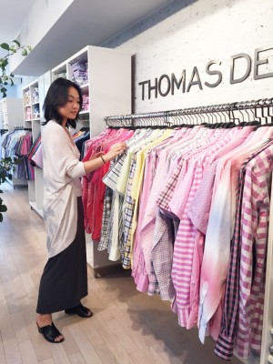 WSU AMDT intern Emily Wang works at Thomas Dean Co. in New York in the summer of 2016.