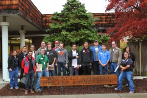 The first Spark program students visited the WSU Tree Fruit Research and Extension Center, along with visits to local companies around Wenatchee.