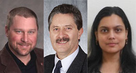 From left, WSU researchers Chad Kruger, Claudio Stockle, and Kirti Rajagopalan
